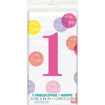 Pink 1st Birthday Table cover