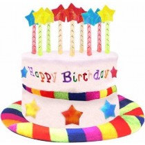 Rainbow Candle Birthday Hat