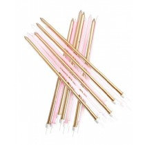 Pink and Gold Tall Candles