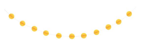 Yellow 7ft Honeycomb Ball Garland