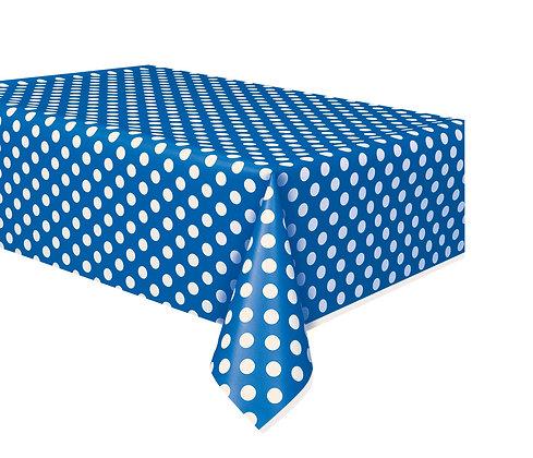 Royal Blue Dotty Tablecover