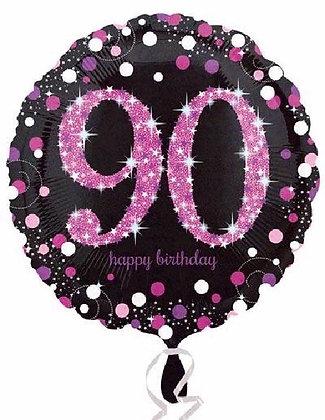 Pink Sparkle Age 90 Foil Balloon