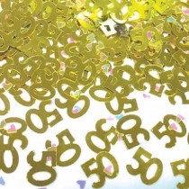 Gold 50 Confetti