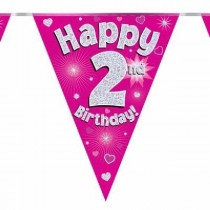 Pink Age 2 Bunting
