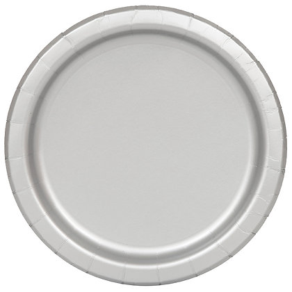 """Silver 9"""" Paper Plates"""