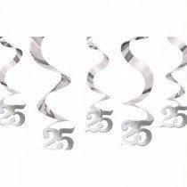 Silver Anniversary Swirls