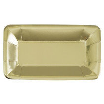 Gold Metallic Snack Tray