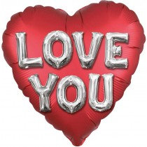 Love You Letters Super Shaped Balloon