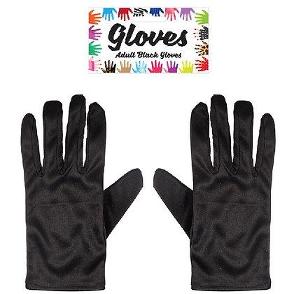 Adult Black Short Gloves