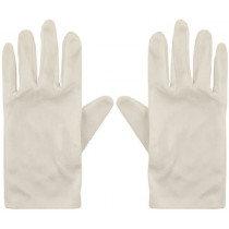 Adult Short White Gloves