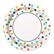 Rainbow Polka Dot Plates