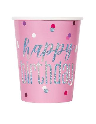 New Glitz Pink Cups