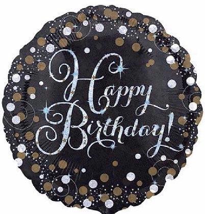 Gold Sparkle Happy Birthday Foil Balloon