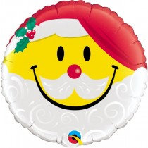 Smile Face Santa Std Foil