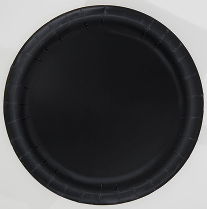 "Black 9"" Paper Plates"