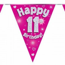 Pink Age 11 Bunting