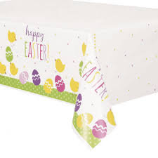 Cute Easter Plastic Tablecover