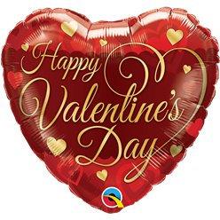 Classic Script Valentines Day Foil Balloon