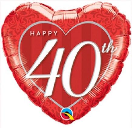 Ruby Anniversary Foil Balloon