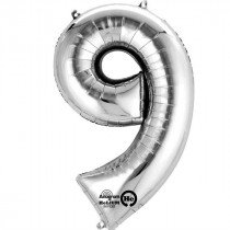 Giant Number Foil 9 Balloon