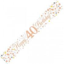Rose Gold Age 40 Banner