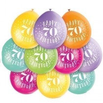 Air Fill Age 70 Balloons