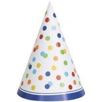 Rainbow Polka Dot Party Hats