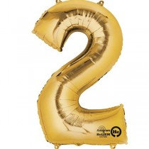 Gold Giant Number 2 Foil Balloon