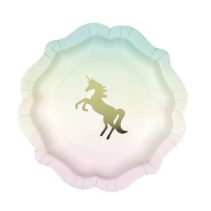 We Heart Unicorn Plates