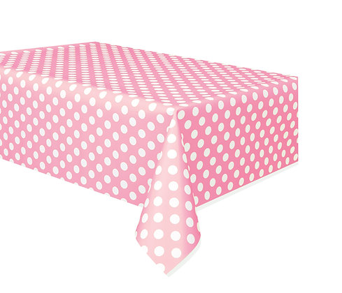 Pink Dotty Tablecover