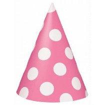 Pink Polka Dot Party Hats