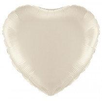 Ivory Heart Foil Balloon