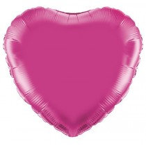 Fushia Heart Foil Balloon