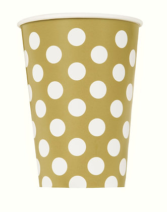 Gold Dotty Cups