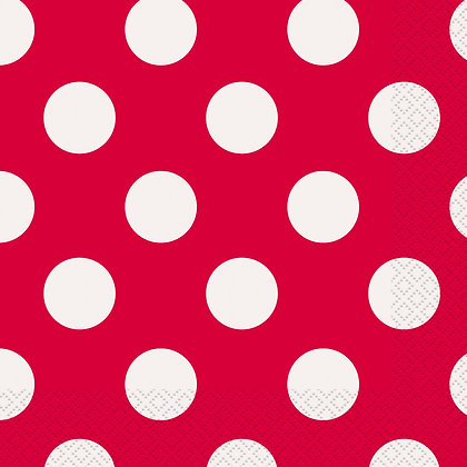 Red Dotty Napkins