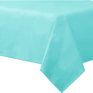Baby Blue Plastic-Lined Paper Tablecover
