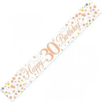 Rose Gold Age 30 Banner