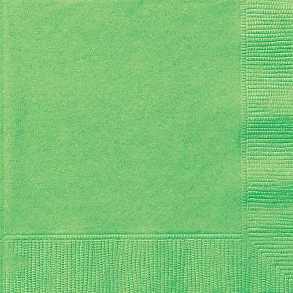 Lime Green Beverage Napkins