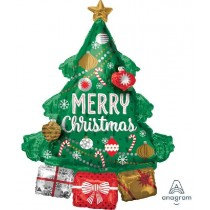 Merry Christmas Tree 3D Super Shape Balloon