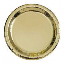 Gold Metallic Plates