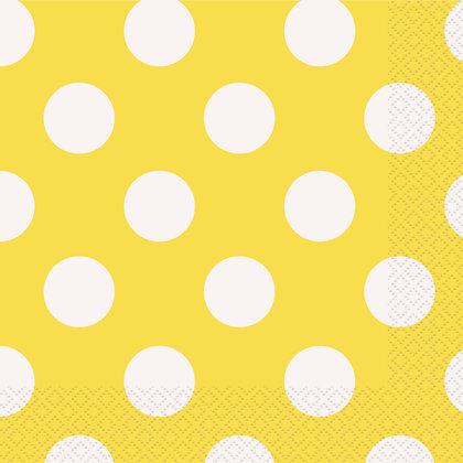Yellow Dotty Napkins