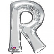 Super Shape Silver Letter R