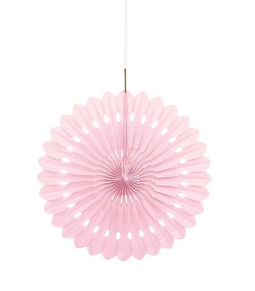 """Pink 16"""" Paper Fan"""