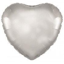 Silver Heart Foil Balloon