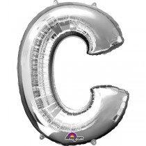 Super Shape Silver Letter C