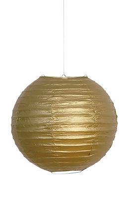 "Gold 10"" Paper Lantern"