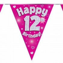 Pink Age 12 Bunting