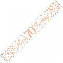 Rose Gold Age 70 Banner