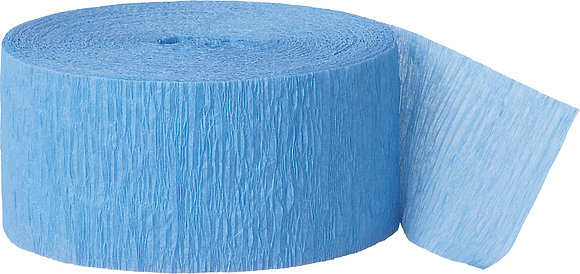 Baby Blue Paper Streamer