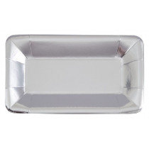 Silver Metallic Snack Trays